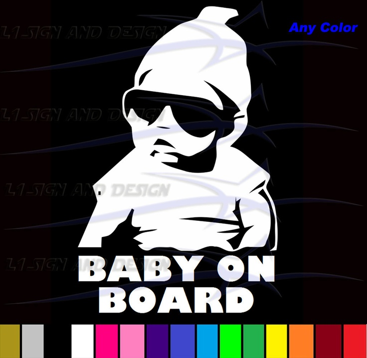 """For when I do have children The Hangover Baby Carlos Baby on Board Vinyl Sticker Decal for Car Truck Wall Window Door Any Color 8"""". $3.99, via Etsy."""