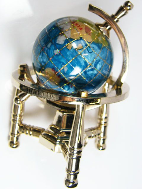 GEMSTONE GLOBE PACIFIC  BLUE COLOUR 5 CM /HT3.5inches TW1007 gemstone globe , gemstone display