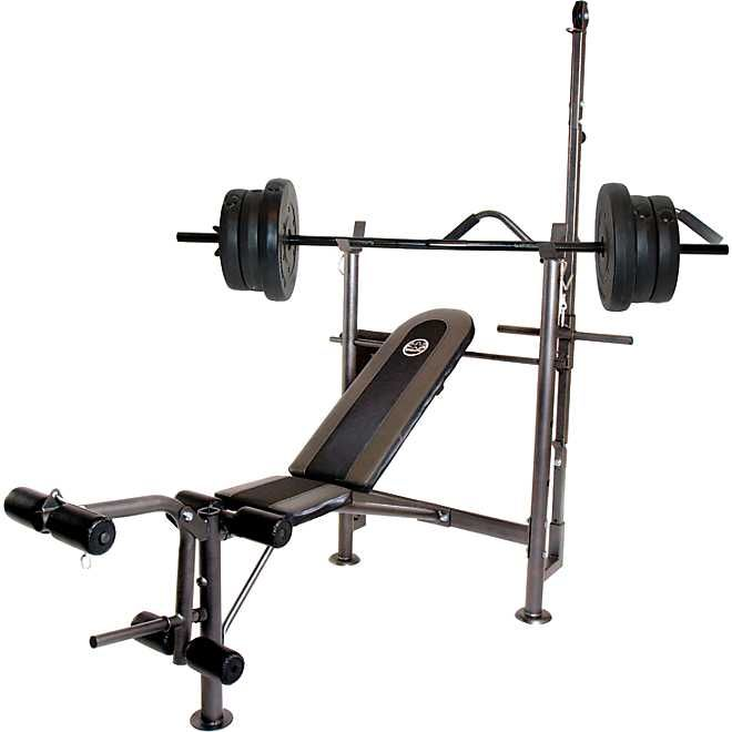 Cap Barbell Combo Bench With 80 Lb Weight Set In 2020 Weight Set Weight Benches Bench Workout