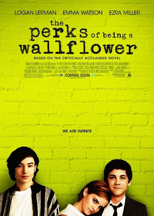 """""""The Perks of Being a Wallflower."""" Embarrassed that I loved this book in high school... because the subject matter is so cliche! I do like that they incorporated the music from the novel, though. I did not like Emma Watson but I loved Ezra Miller... forgot that he played a psycho in """"We Need to Talk About Kevin."""""""
