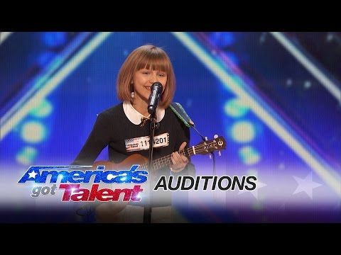 YouTube: 12 yo Grace Vander Waal playing ukulele and singing an original song on America's Got Talent