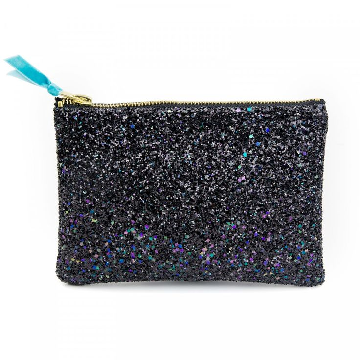 VIDA Leather Statement Clutch - Sequins with Jewls by VIDA