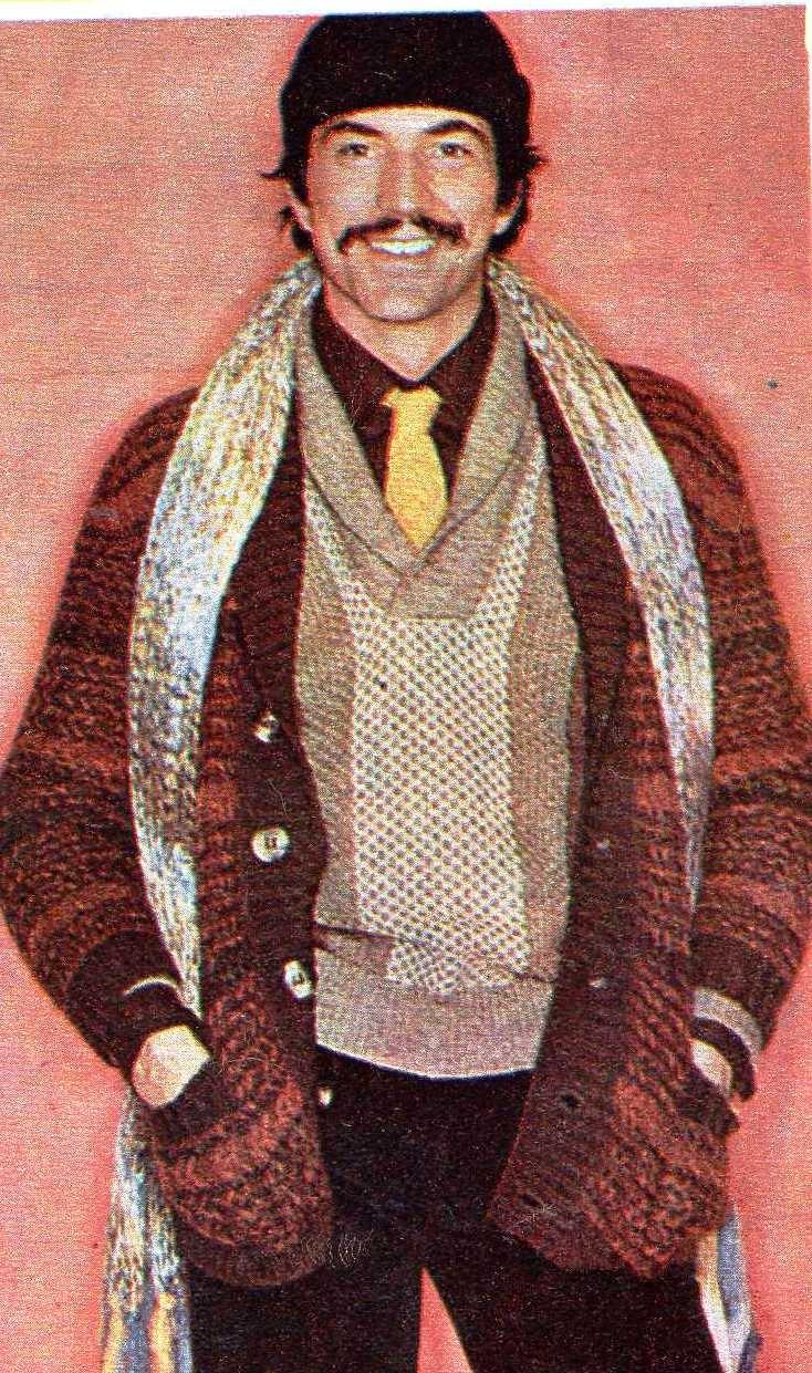 """from """"Magazyn Rodzinny"""" kwiecień 1977 r. Fot. """"L'uomo Vogue"""" oraz """"Międzynarodowy Sekretariat Wełny"""""""