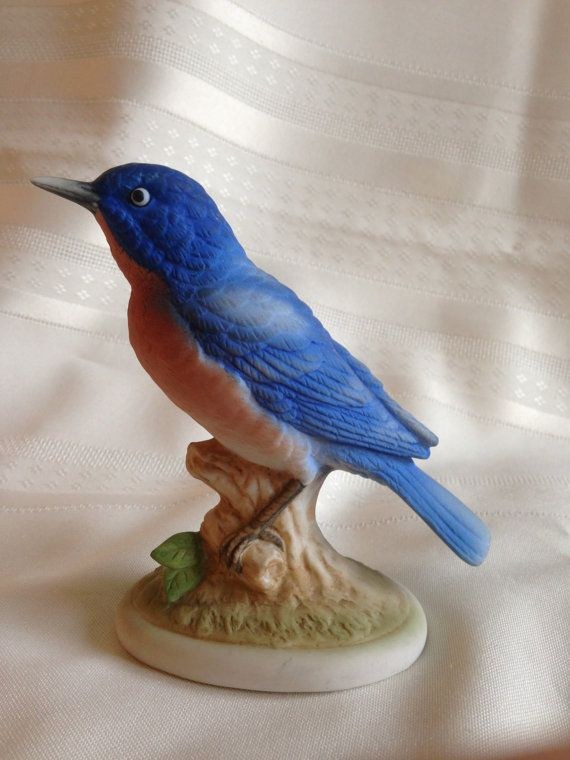 Lefton+Blue+Bird+Figurine+Hand+Painted+KW+by ...