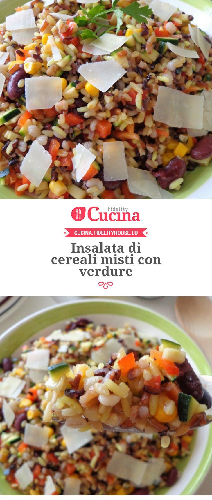 Insalata di cereali misti con verdure della nostra utente Magdalena. Unisciti alla nostra Community ed invia le tue ricette!