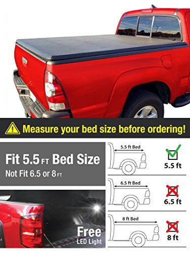 Premium TriFold Tonneau Truck Bed Cover For 07-13 Toyota Tundra (with/without utility track) 5.5 feet (66 inch) Trifold Truck Cargo Bed Tonno Cover (NOT For Stepside)