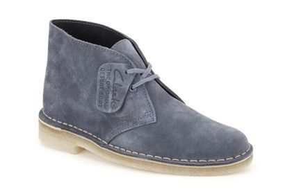 Womens Originals Boots - Desert Boot in Blue Suede from Clarks shoes
