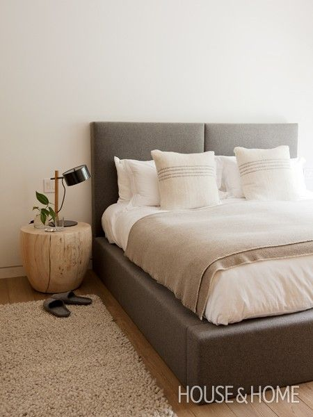 Bedrooms For Him: 6 Easy Decor Ideas ~ Marketplace Events ---- (clean & simple headboard)