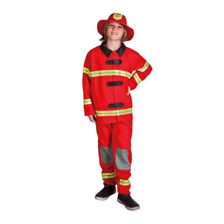 Een stoer kostuum voor alle kleine brandweermannen en -vrouwen. Het rode brandweermannen-pak bestaat uit een broek, jas én hoed en is geschikt voor kinderen van 4 tot 6 jaar (maat: 122/128). Gewicht: 420 gramMaat: 122/128 - Kinderkostuum Brandweerman, 4-6 jaar