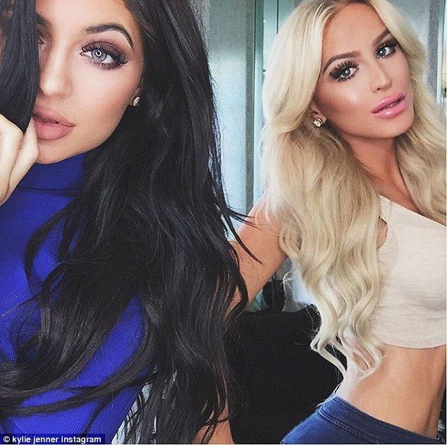 Meanwhile his 18-year-old girlfriend Kylie Jenner was doing what she does best on Thursday - posing for a pouting selfie