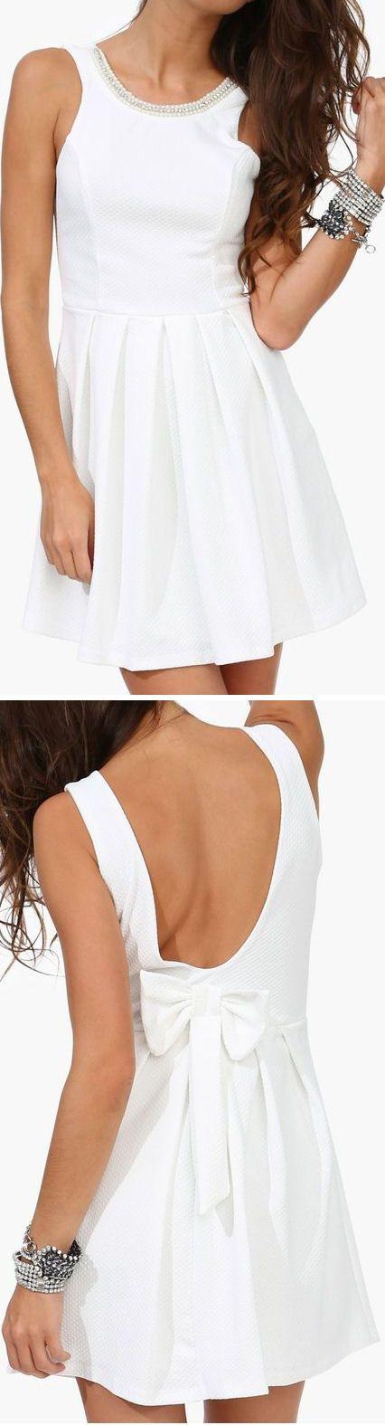 Bejeweled Bow Back Dress ♥