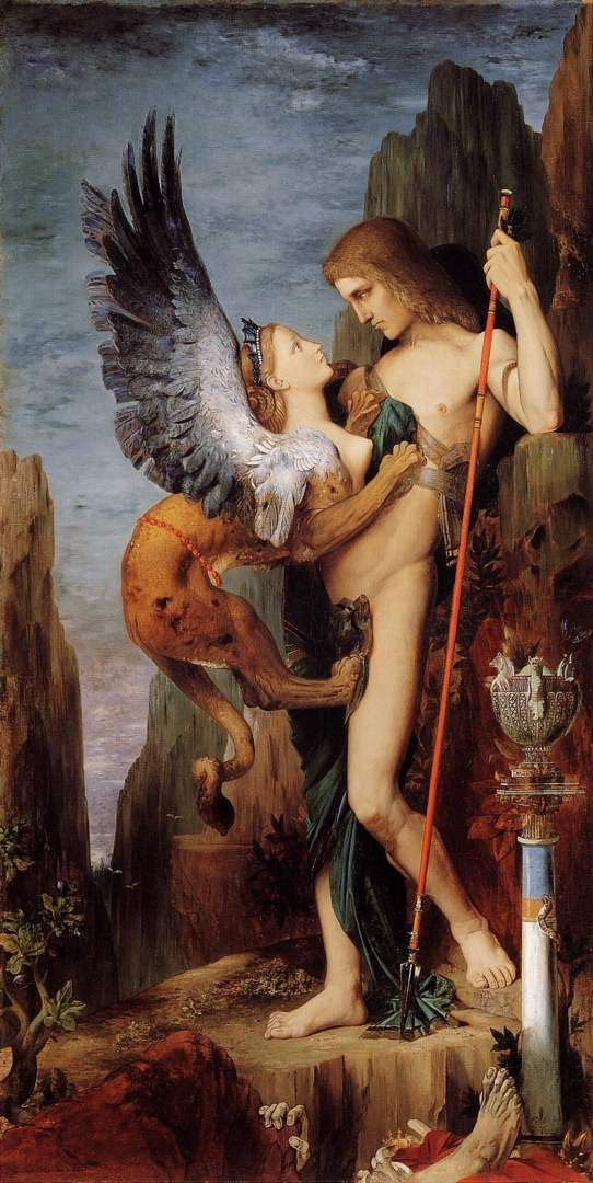 Oedipus and the Sphinx, by Moreau