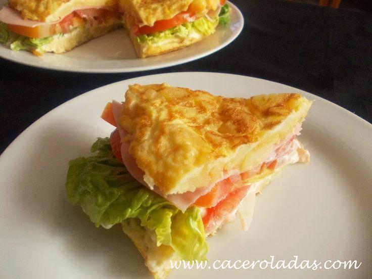 Caceroladas: Tortilla de patatas rellena (vegetal)