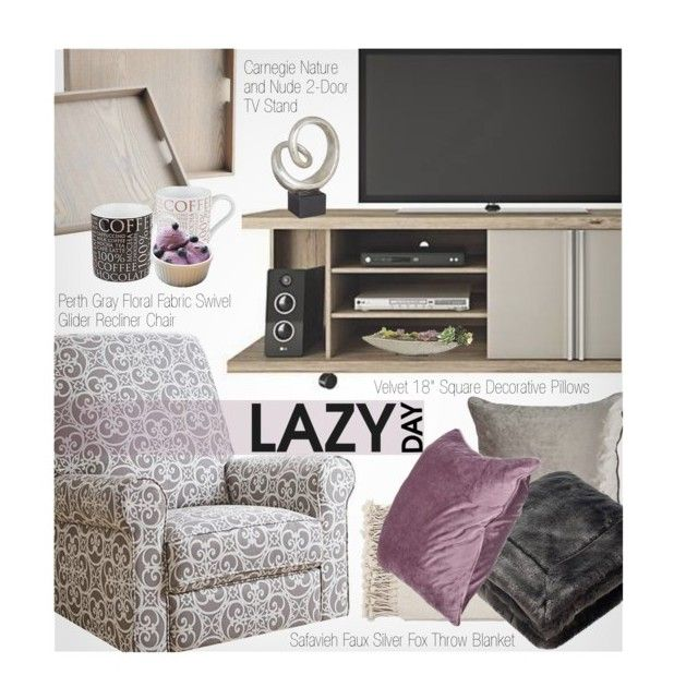 """Lazy Day"" by beebeely-look ❤ liked on Polyvore featuring interior, interiors, interior design, home, home decor, interior decorating, Surya, Safavieh, LazyDay and homedecor"
