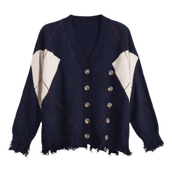 Plus Size Distressed Button Up Cardigan Purplish Blue (1,725 INR) ❤ liked on Polyvore featuring tops, cardigans, women's plus size tops, womens plus tops, button up top, women's plus size cardigans and plus size cardigans