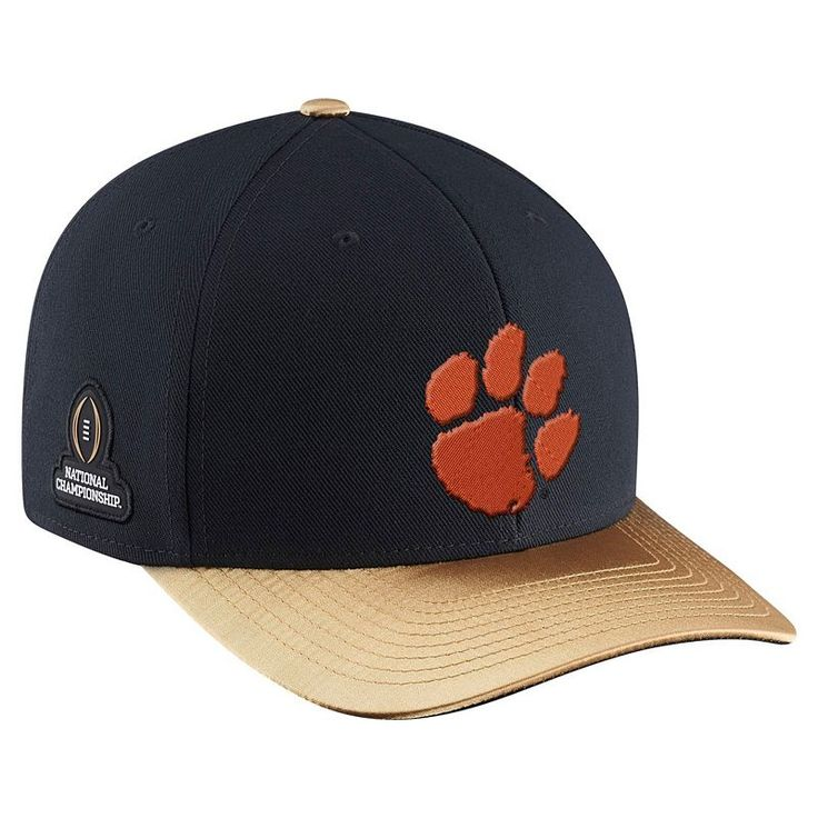 Adult Nike Clemson Tigers 2016 College Football Playoff National Champions Locker Room Coaches Cap, Black