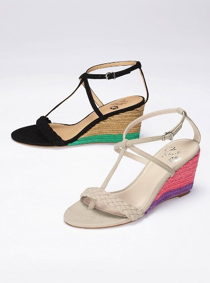 $48  http://www.victoriassecret.com/ss/Satellite?ProductID=1265724580125&c=Page&cid=1327029217218&pagename=vsdWrapper: Summer Sandals, Companions Shoes, Style, Shoes Clothes, Dresses Shoes, T Strap Mini, Summer Wedges