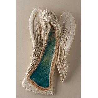 Anioł wiszący - turkusowy