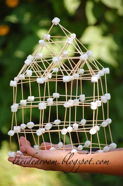 Build with marshmallows and toothpicks- perfect for the LEGO builders in the family!