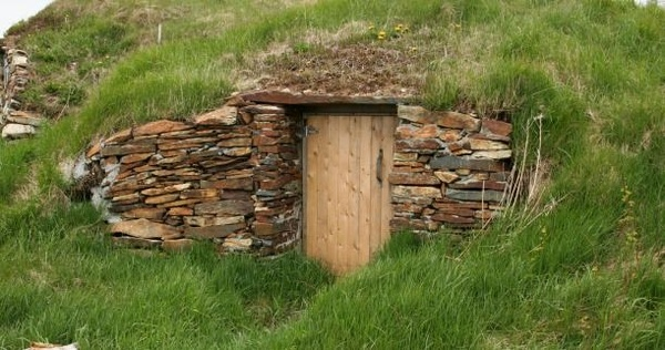 root cellar... My grandfarther had a root cellar almost identical...