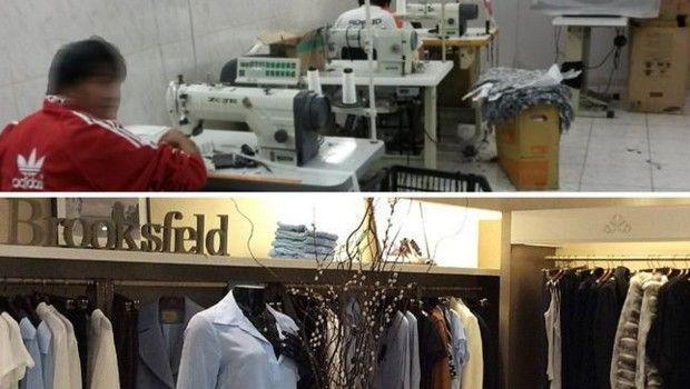 Cinco trabalhadores bolivianos foram encontrados em oficina com produção destinada à marca Brooksfield Donna (Foto: Ministério do Trabalho/Divulgação)