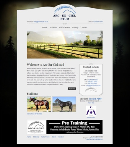 Arc-En-Ciel Stud:    Arc En Ciel Stud is the first 6 page static website designed by Trademark Media. Although cost effective and simplistic, Arc En Ciel Studs message is driven home through excellent graphics and visuals and has proved to be extremely effective.