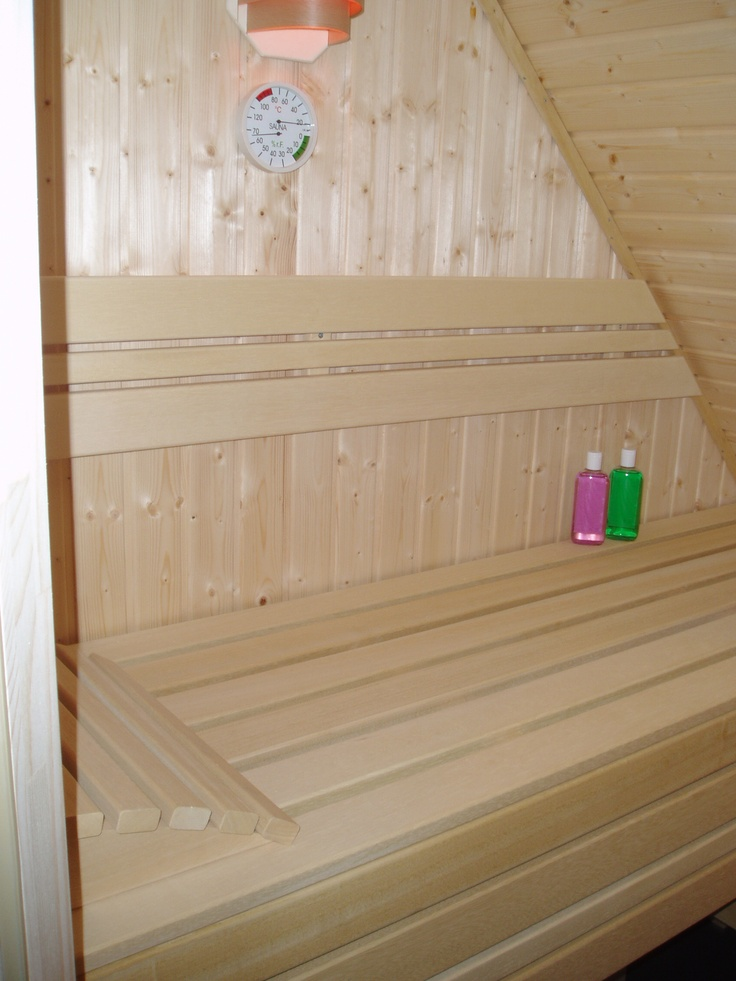 Sauna aanbieding 200 x 130 x 205 onder schuindak