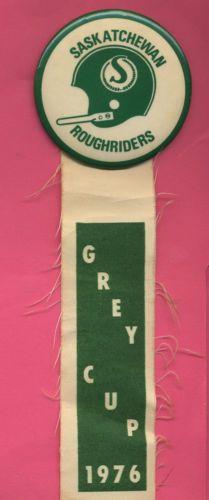 1976 Grey CUP PIN AND Ribbon Saskatchewan Roughriders CFL Rare | eBay
