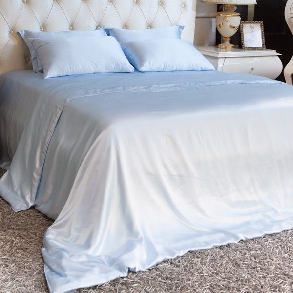 limited time to save on blue silk sheet set shopping 100 mulberry silk provides