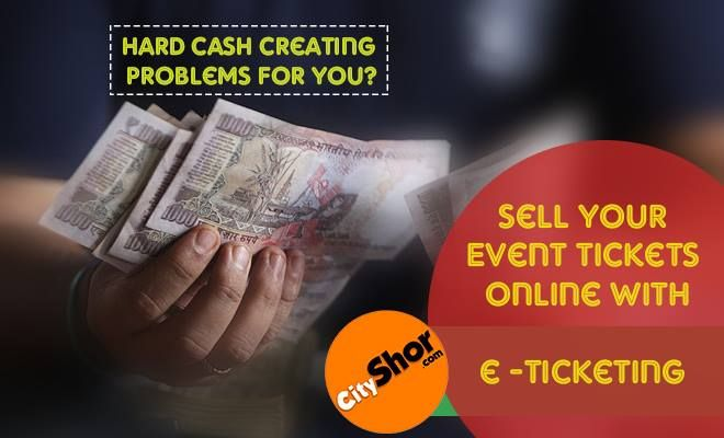 Sell your event tickets online with CityShor e-Ticketing. Contact No: +91 9886347185 #CityShor #CityShorETicketing #Event