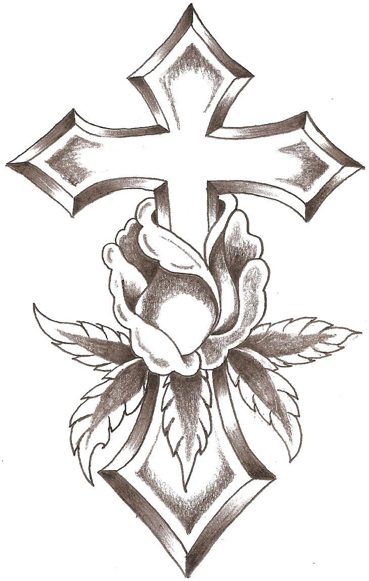 Cross Tattoo Line Drawing : Line design art crosses cross rose by thelob gourds