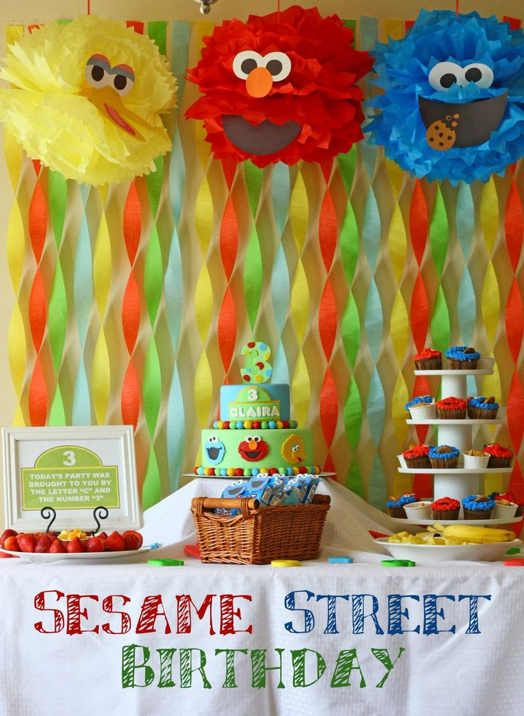 It took my third baby turning 3 years old to have a sesame street party at our house. I'm surprised it took that long. Sesame street ...