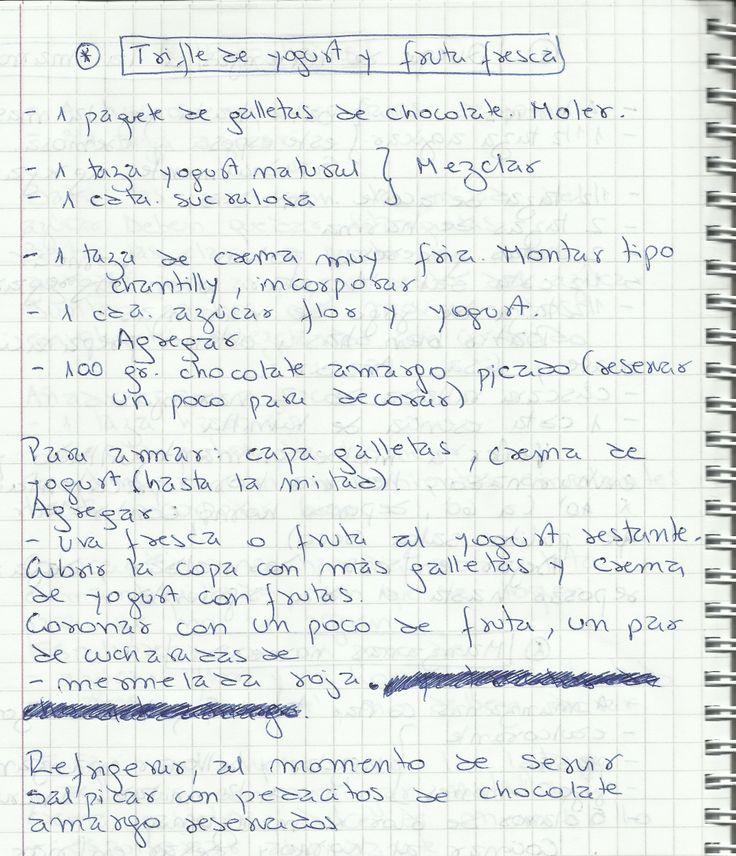 TRIFLE DE YOGURT Y FRUTA FRESCA   #DULCE #POSTRES #POSTRE #YOGURT