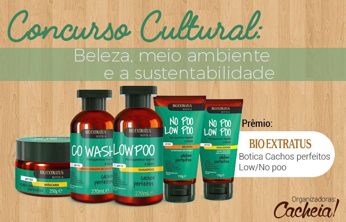 """Pessoas lindas, está aberto o concurso cultural do blog Cacheia! Vem inscrever com redação sobre a temática: """"Beleza, meio ambiente e a sustentabilidade""""!"""