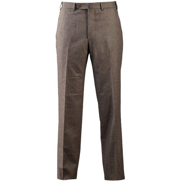 LAWRENCE COVELL check trouser ($510) ❤ liked on Polyvore featuring men's fashion, men's clothing, men's pants, men's dress pants, mens checkered pants, mens elastic waistband pants, mens olive pants, mens zip off pants and mens olive green pants