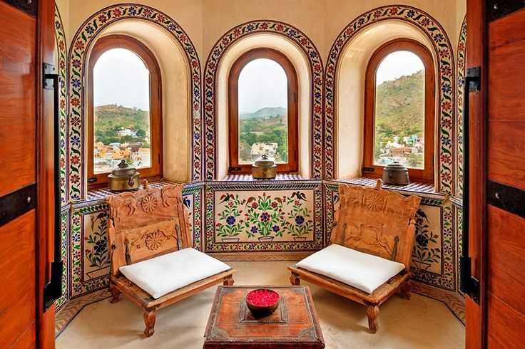 Perched in the Aravalli hills, the hotel overlooks the village and is conveniently located less than an hour from Udaipur. From $559/night; lebua.com
