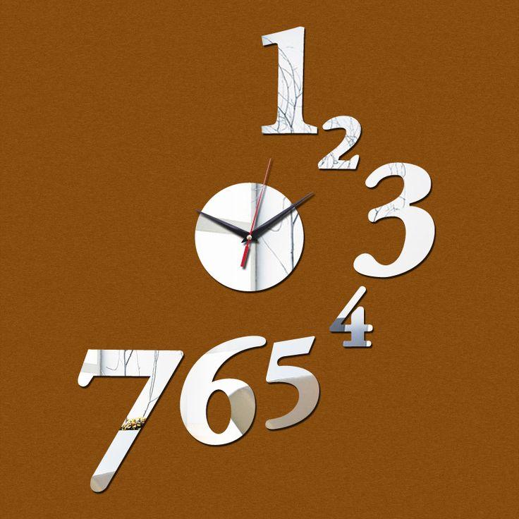 2015 nova promoção mirorr de acrílico relógio de parede arte casa decoração moderna diy relógio adesivo decoração shing livre alishoppbrasil