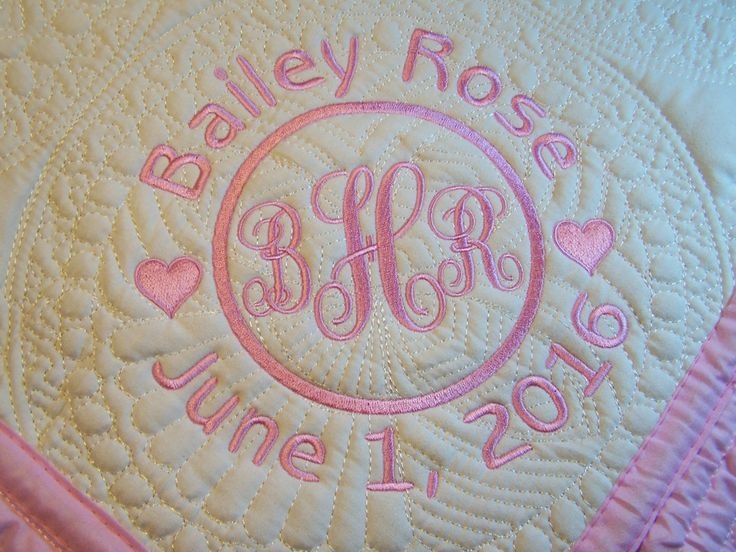 Personalized Quilt, Baby Blanket, Monogrammed, Baby Gift, Crib Blanket, Quilted Crib Blanket, Baby Shower Gift by PreciousLoveDesigns on Etsy