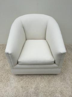 Milo Baughman   Pair Of Milo Baughman Swivel Chairs
