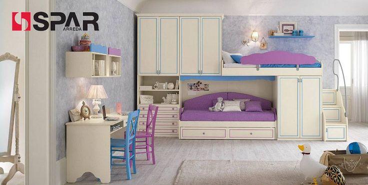#Romantica...the perferct bedroom for girls! http://www.spar.it/sp/it/arredamento/camerette-rom-103.3sp?cts=camerette_romantica