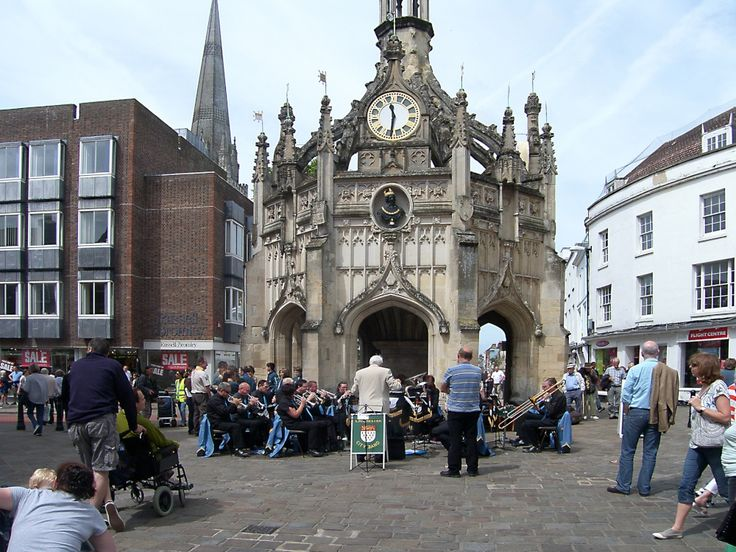 Chichester City Band Perform at the MarketCross by Brian Ireland - Pictures of England