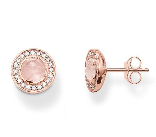 Thomas Sabo Earrings Glam & Soul Light of Luna Rose Gold | C W Sellors Fine Jewellery and Luxury Watches