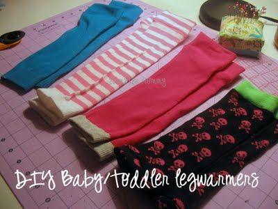 DIY Infant/Toddler Legwarmers