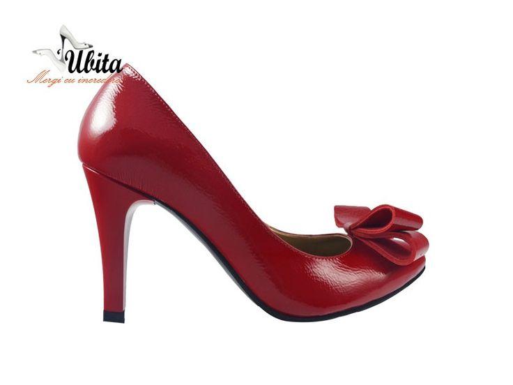 Poze Pantofi cu fundita si toc inalt Clarinis