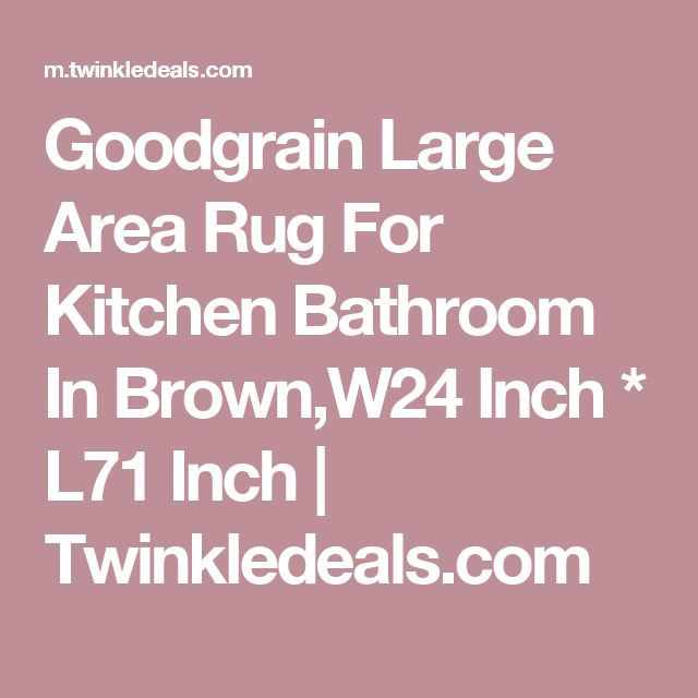 Goodgrain Large Area Rug For Kitchen Bathroom In Brown,W24 Inch * L71 Inch | Twinkledeals.com