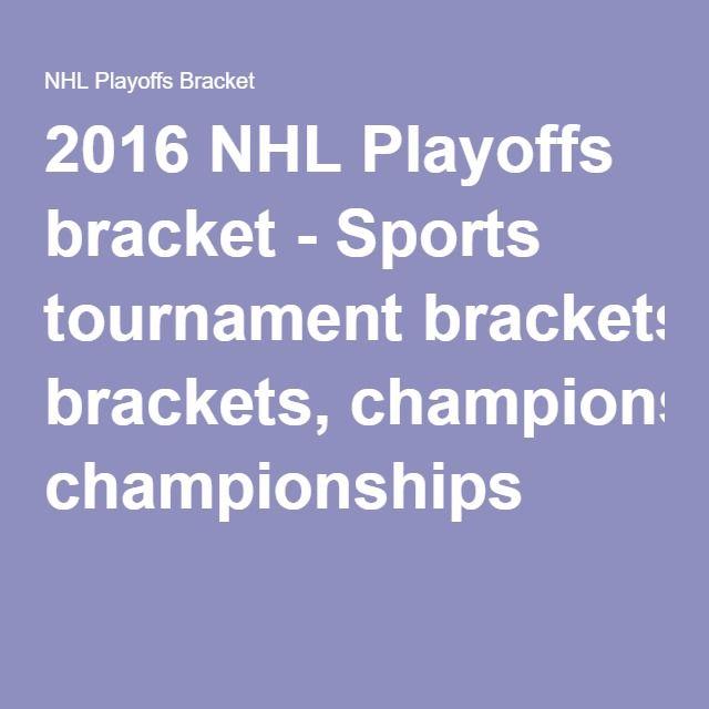 2016 NHL Playoffs bracket - Sports tournament brackets, championships