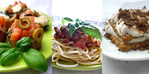 Jadłospis diety 1200 kcal w stylu włoskim