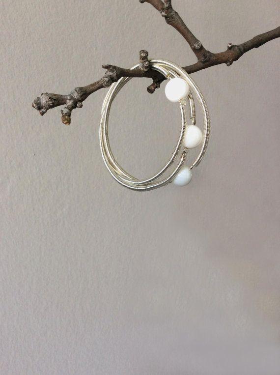 Spheres silver bracelet white onyx triple Cartier by EliaLaNoire