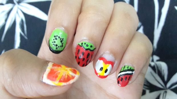 Картины поделки фруктовые дизайны ногтей