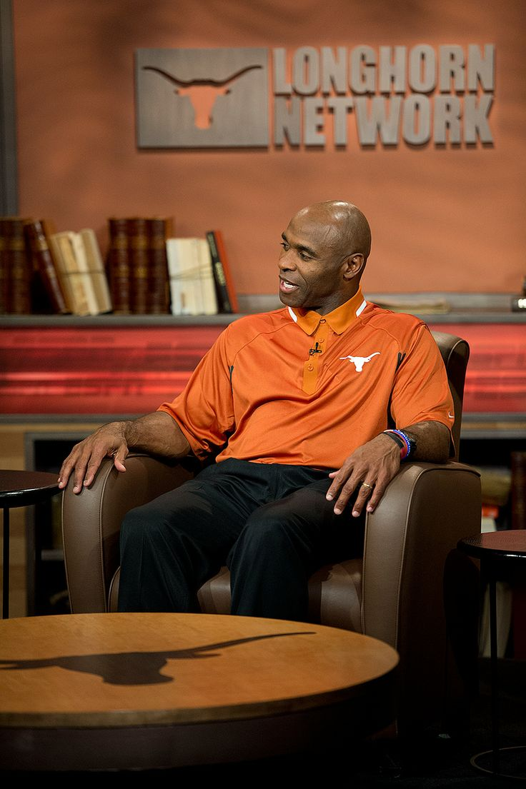 Charlie Strong on the Longhorn Network set Monday, Jan. 6, 2014.
